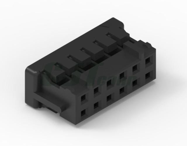 接线端子2.0mm 2.0线对板黑色直插连接器 A2009 DF11-4DS-2C DF11-6DS-2C  3