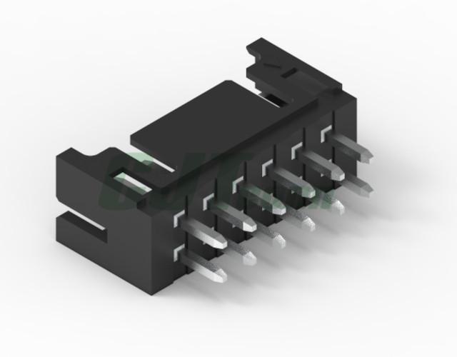 连接器 2.0mm PCB弯针插座 双排 DF11-4DS-2C DF11-6DS-2C 3