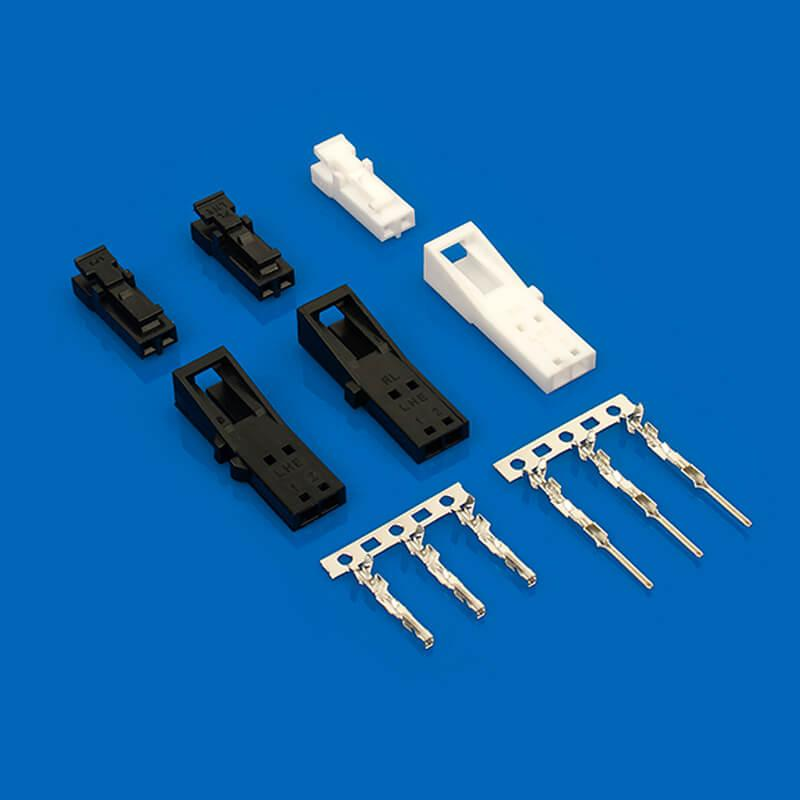 2.54mm线对板连接器 CJT A2547  50-57-9408 50-57-9409 电线接头公母空中对插 3