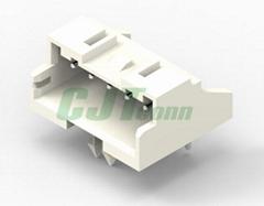 JST连接器 2.5mm 弯针带定位柱插座 S02B-XASS-1 S02B-XASK-1