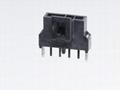 MOLEX连接器 同等品2.5mm 105311-1102 105311-1103 黑色直针插座连接器 带柱