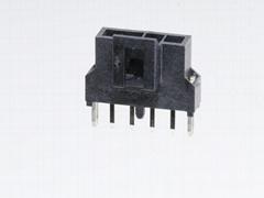 MOLEX連接器 同等品2.5mm 105311-1102 105311-1103 黑色直針插座連接器 帶柱