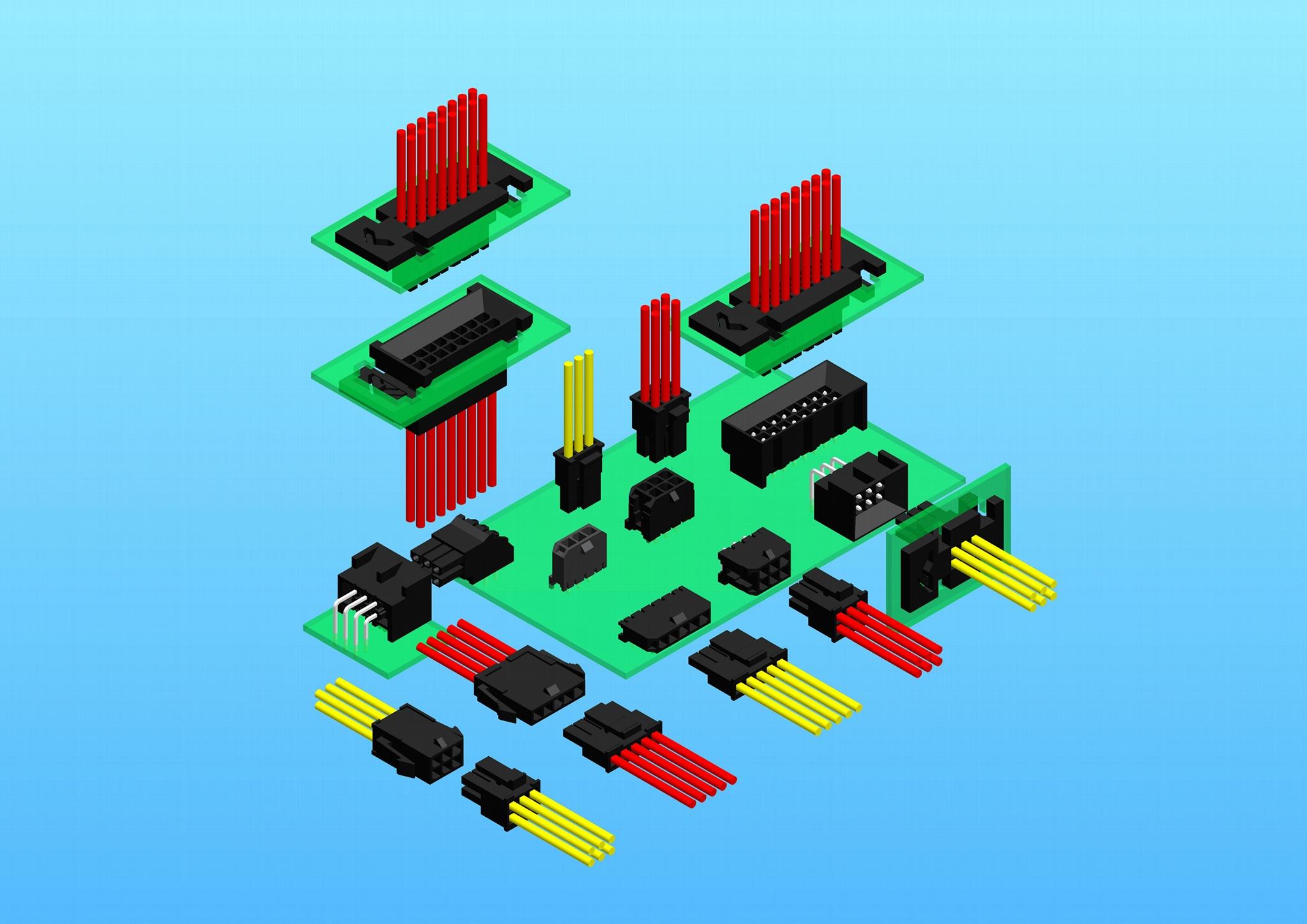 線束 電子線 接線連接器 2.0mm 2.5mm 2.54mm 3.0mm 4.2mm 3