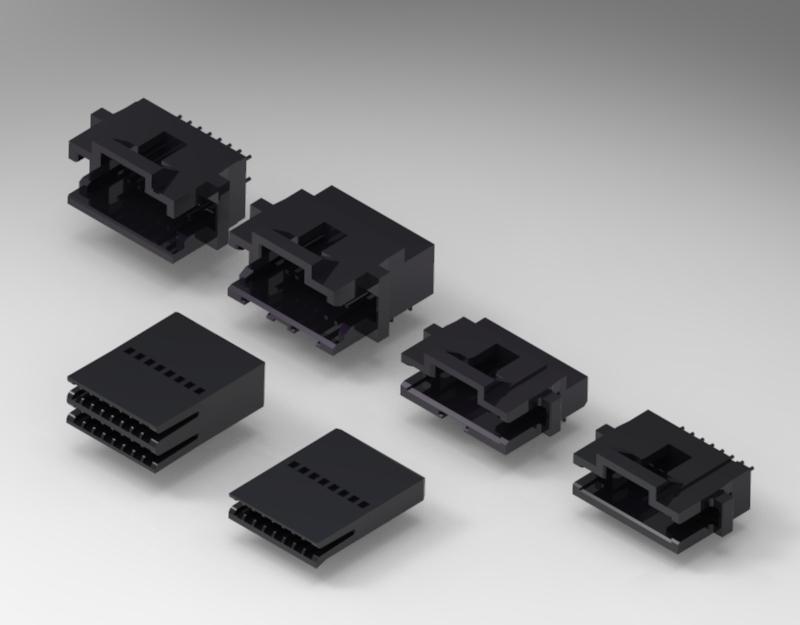 TE同等品连接器1.27mm线对板连接器 卧式贴片端子 1