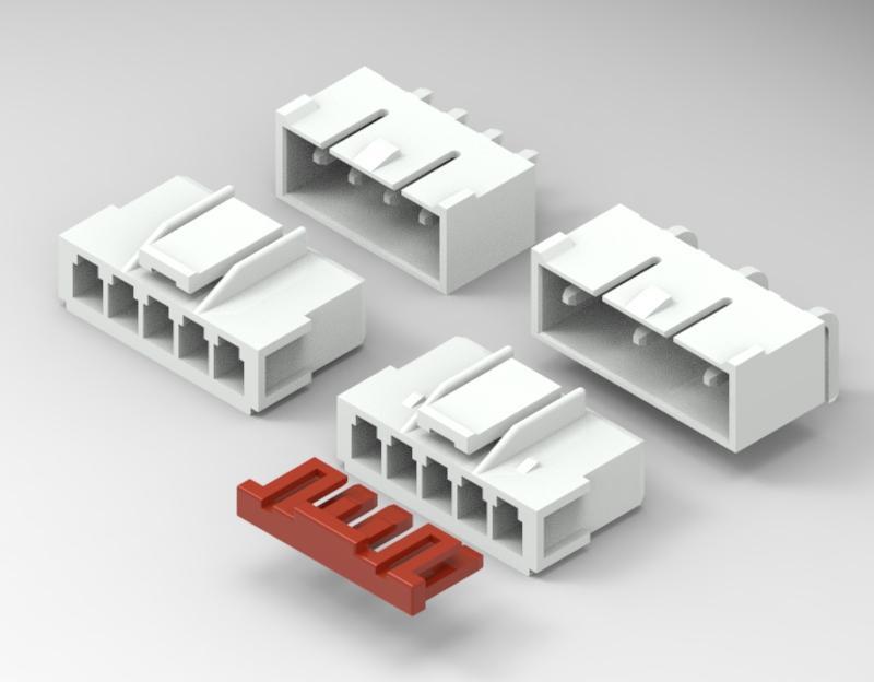 3.96mm 白色塑壳连接器 35156-0500 35156-0600环保连接器 长江连接器  1