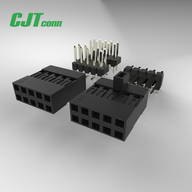 连接器 杜邦2.54mm 黑色排母连接器 90147-1103 90147-1104  1