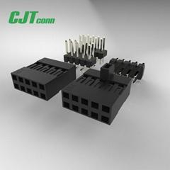 长江连接器杜邦2.54mm 黑色排母连接器 90147-1103 90147-1104
