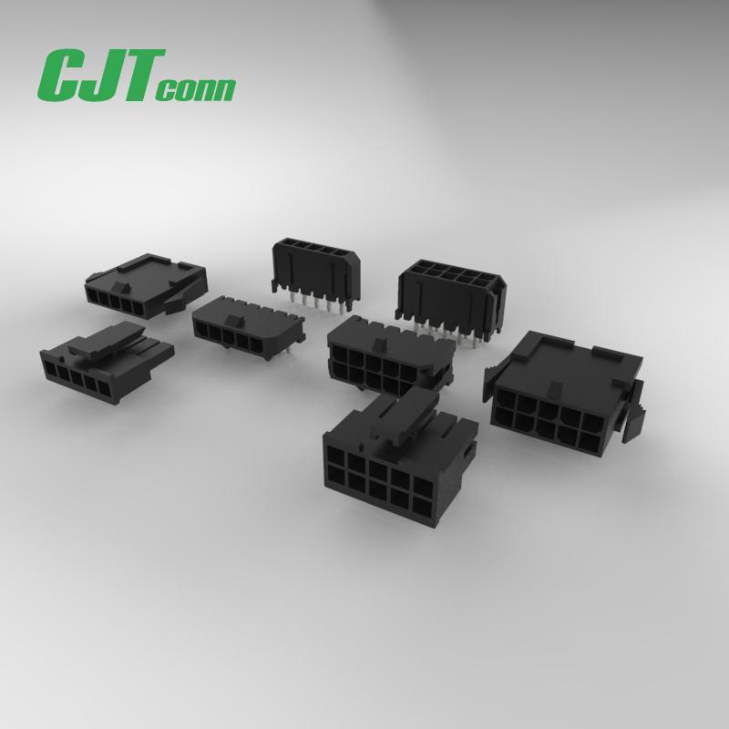连接器 3.0mm胶壳连接器 43645-0200 带定位柱针座SMT贴片 1