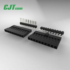 CJT 2.5mm 黑色 排针排母连接器 环保连接器 无卤定制连接器