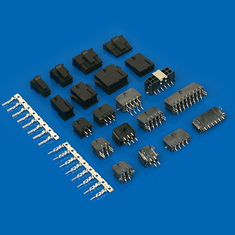 3.0mm臥式貼片連接器 43650-0412 43650-0512 長江連接器 3