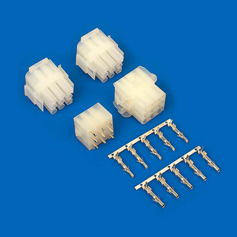 6.35mm膠殼針座 TE連接器同等品 防水連接器 350428-1 350429-1  2