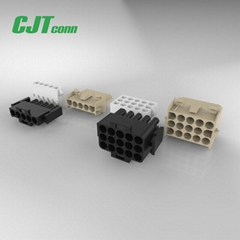 6.35mm线对板连接器 C6351防水连接器42021,42022  长江连接器