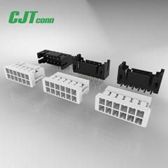 2.0线对板黑色直插连接器 A2009 DF11-4DS-2C DF11-6DS-2C 接线端子2.0mm