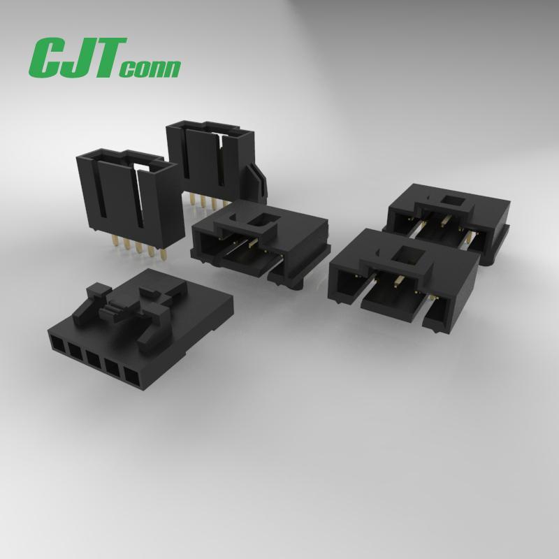 2.54mm线对板连接器 CJT A2547  50-57-9408 50-57-9409 电线接头公母空中对插 1