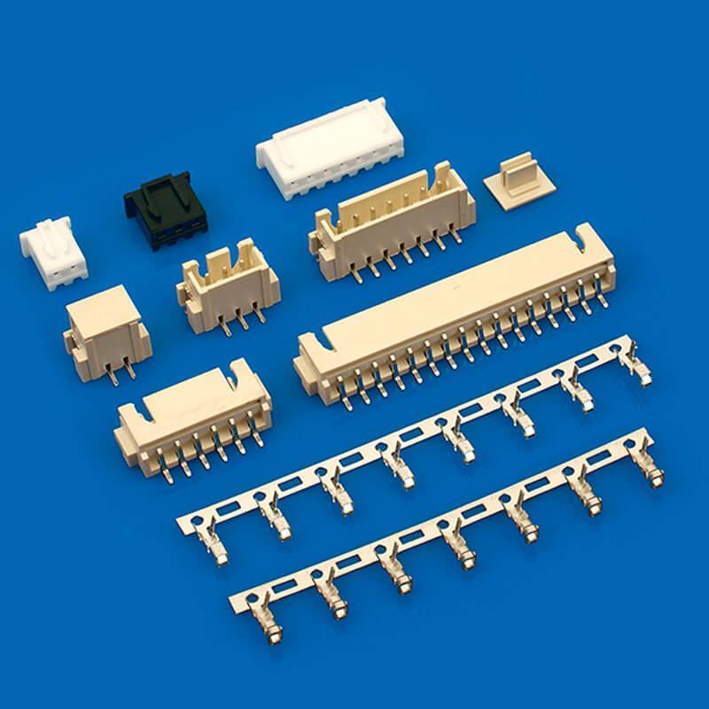 连接器厂家 直销XH2.54mm连接器  B6B-XH-TV4-E B4B-XH-AM-R 2.54mm弯针红色 6