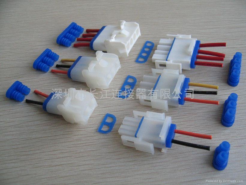 供应6.35mm线对板连接器 C6351连接器 防水连接器搭配防水塞 长江连接器 2