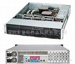 超微8盤位冗余電源機箱CSE-825TQ-R740LPB