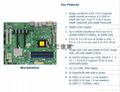 單路 超微X11SAE 支持 E3-1200V5 DDR4內存1151 工作站服務器主板 4