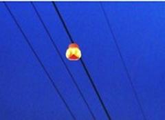 高壓架空線路警示燈標誌燈爆閃燈自取電警示器