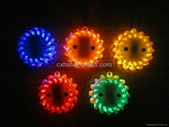 9 in 1 blue 6 packs rechargeable led road flares