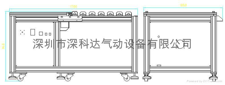 拆LCD偏光片機 2