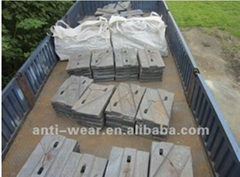 DF133 Double-inlet & Double-outlet Coal Mill Liners