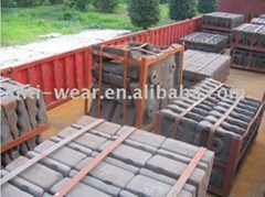 DF064 Cr-Mo Alloy Steel Conch Cement Mill Liners