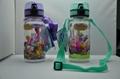 Children water botle wiht snap cap
