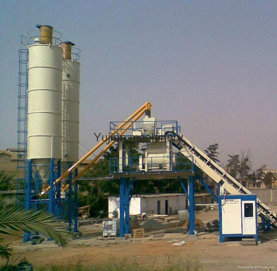 Cement Plant Structure : Hzs concrete batching plant yujian china manufacturer
