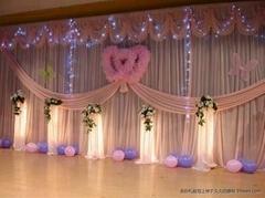 浪漫舞台布幔