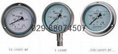 Y-100BF不鏽鋼壓力表