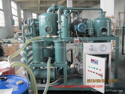 Two-stage vacuum Insulating oil regeneration and oil treatment machine