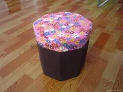folding storage stool