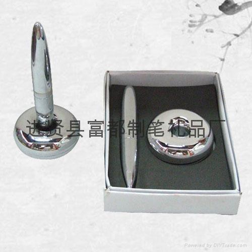 【富都笔业】供应质优价优的外贸磁悬浮笔 精美金属磁浮笔 1