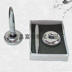 【富都笔业】供应质优价优的外贸磁悬浮笔 精美金属磁浮笔