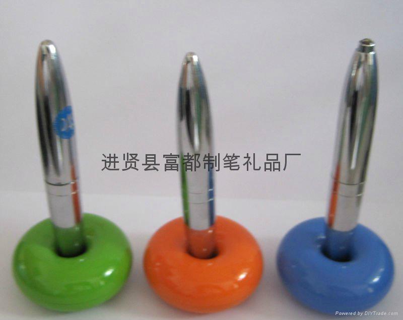 【富都笔业】供应质优价优的外贸磁悬浮笔 精美金属磁浮笔 2