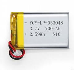 3.7V医疗成人用品锂电池700mAh