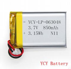 空氣淨化器軟包聚合物鋰電池3.7V 850mAh