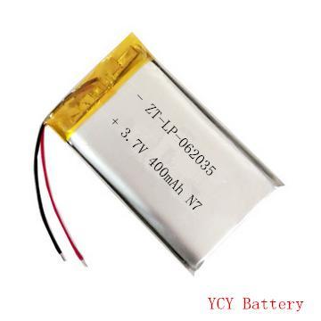 防尘口罩电池ZT-LP-062035 3.7V 400mAh 1