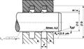 活塞杆用单向同轴密封件