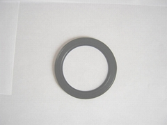 Rubber part adhered PTFE