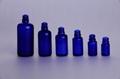 Blue Green glass drop dispensing bottle
