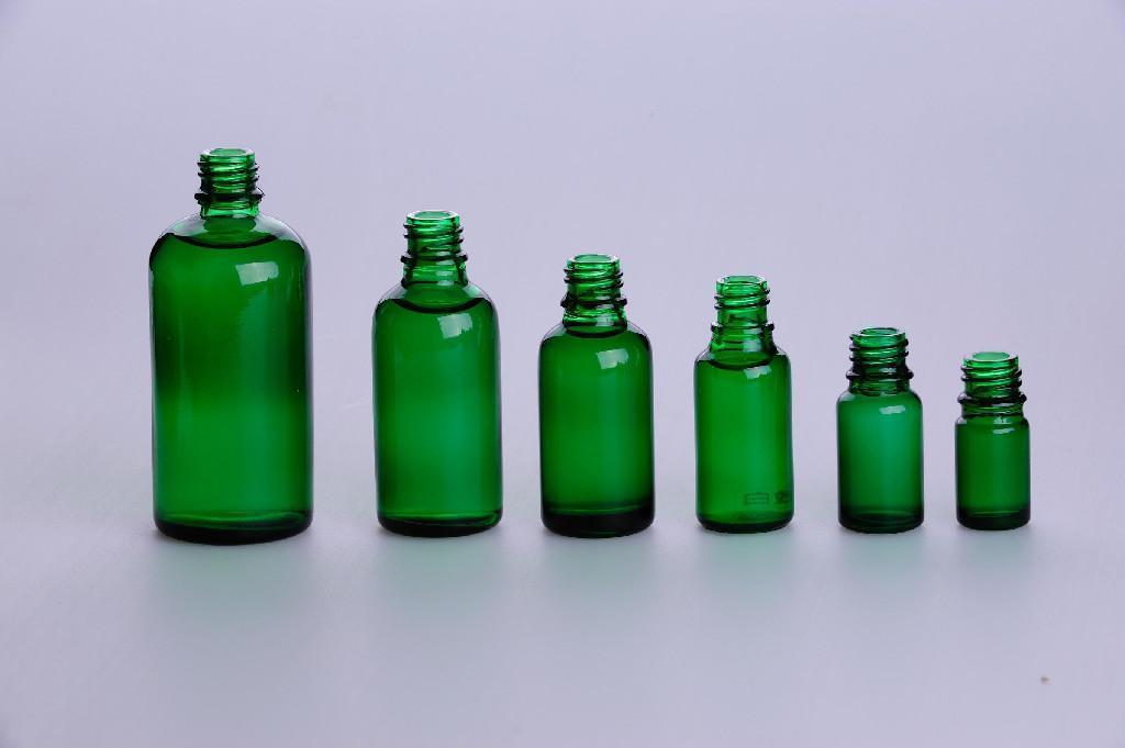 Amber/clear glass drop dispensing bottle DIN PP 28MM 5