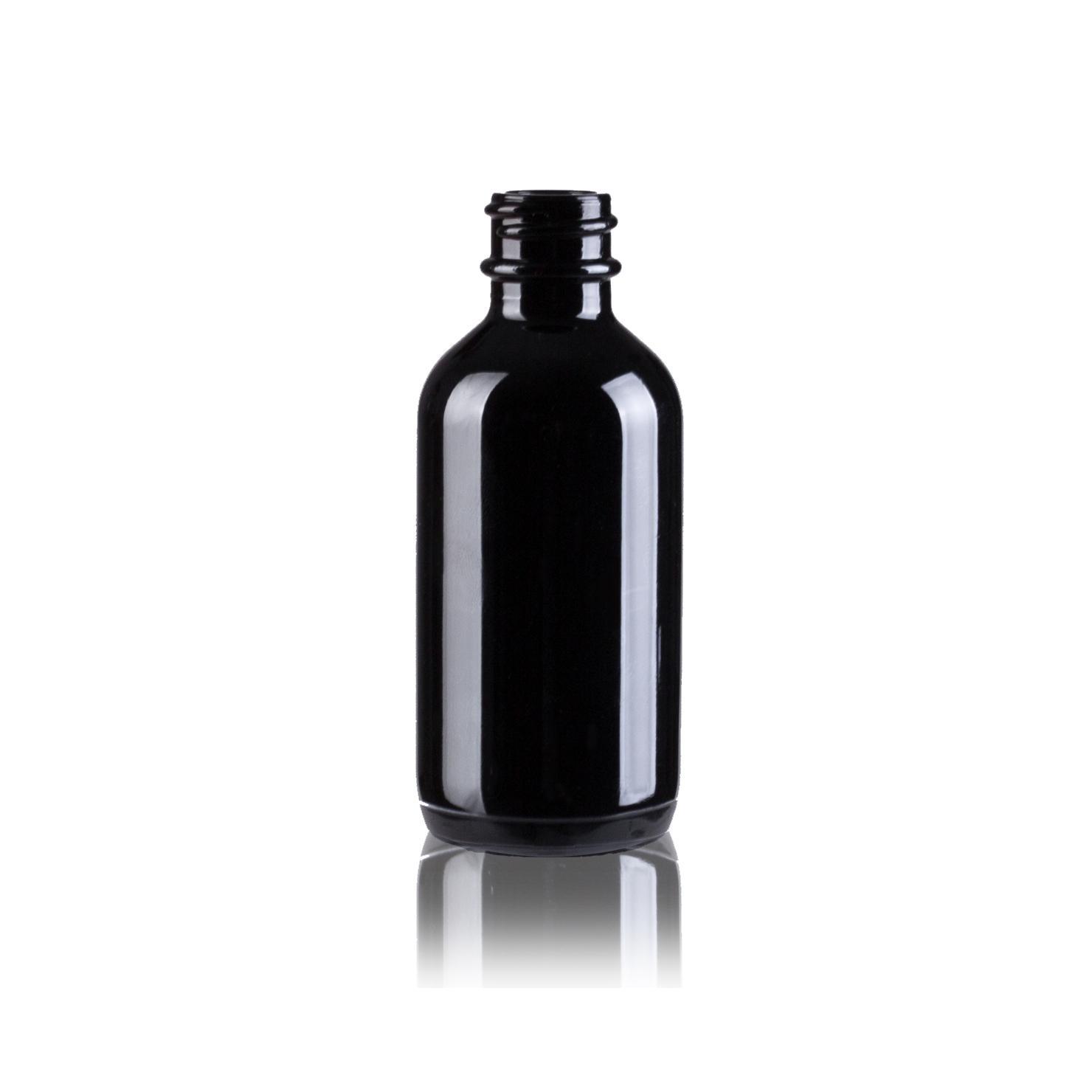Black color glass bottle 4