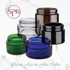 Amber,Clear,Blue,Green,Black clor Glass Jar
