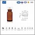 Amber moulded injection vial USP TYPE I