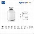 Clear moulded injection vial USP TYPE I,II,III 3