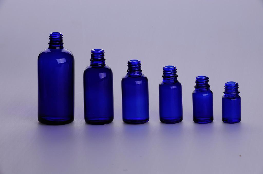 Amber/clear glass drop dispensing bottle DIN PP 28MM 4