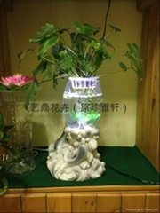 灯光氧气水培花卉花瓶