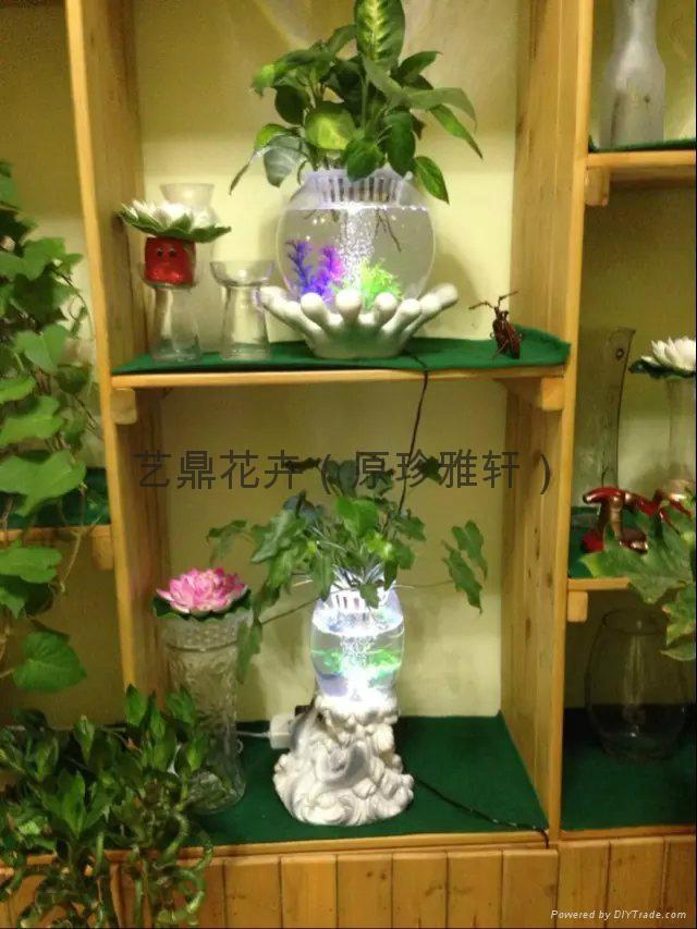 灯光氧气水培花卉花瓶 2